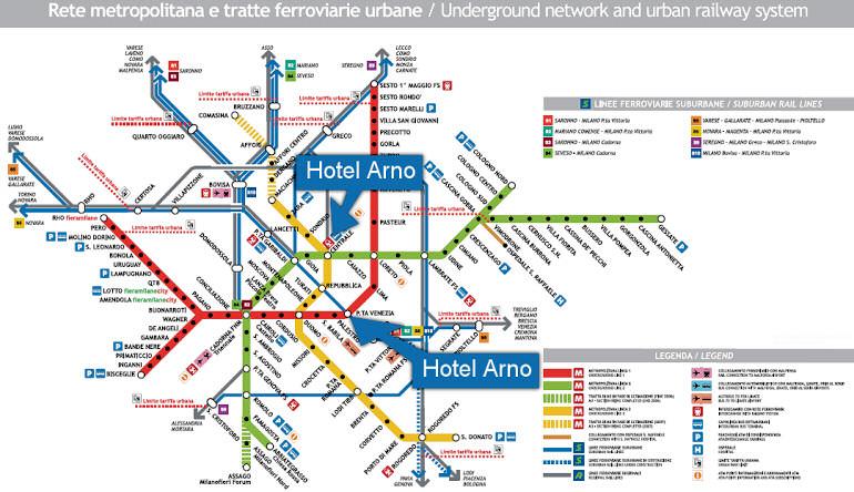 Albergo arno milano hotels vicino stazione centrale a for Porta venezia metro